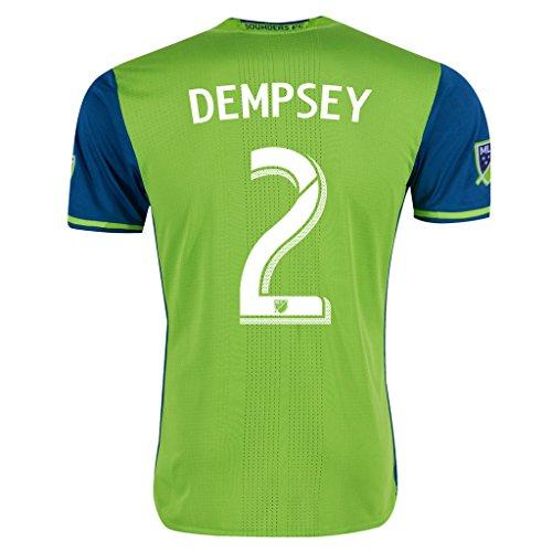Green #2 DEMPSEY Home Soccer Jersey Men's 2016 (L)
