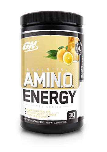 OPTIMUM NUTRITION Essential Amino Energy, Half & Half Lemonade Iced Tea, Preworkout and Essential Amino Acids with Green Tea and Green Coffee Extract, 30 Servings