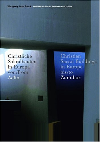 Christian Sacred Buildings in Europe since 1950 (Allemand) Broché – 14 septembre 2005 W.J Stock Prestel 3791331833 ARCHITECTURE / Reference