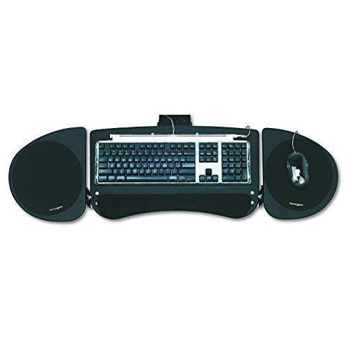Kensington 60044 Adjustable Articulating Underdesk Keyboard Platform, 24-1/2w x 12-1/2d, Black