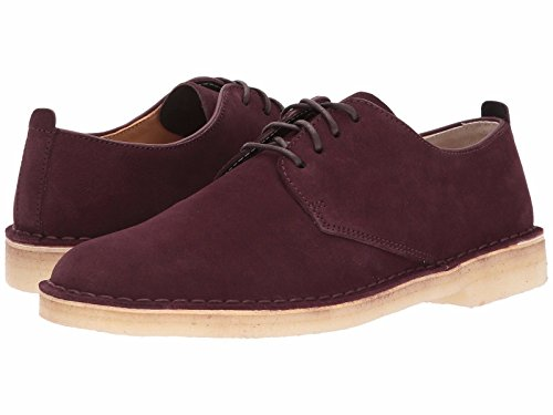 Mens Burgundy Oxfords - CLARKS Men's Desert London, Burgundy Suede Oxford, Size 11.5