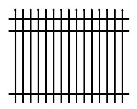 Allure Alluminum Worthington 4 ft. x 6 ft. Black Rust-free Aluminum 3-Rail Unassembled Fence Panel with Pointed Top
