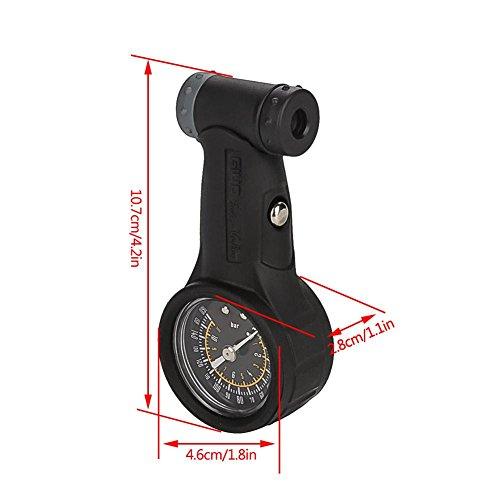 Vbestlife Road Mountain Bike Tire Air Pressure Gauge 0-160PSI Bicycle Repair Tool Cycling Accessory by Vbestlife (Image #3)
