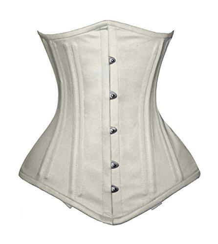 luvsecretlingerie 26 Double Steel Boned Waist Training Cotton Underbust Shaper Corset #8553-TC ()