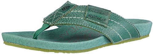 Dockers by Gerli 36BR201 - zuecos de cuero unisex verde - Grün (grün 800)