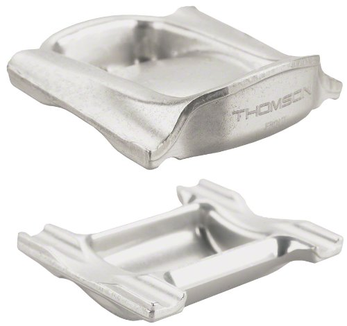 Thomson Top and Bottom Clamp for Elite Seat Post (Silver)