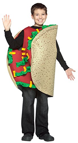 UHC Boy's Taco Outfit Funny Theme Party Fancy Dress Child Halloween Costume, Child M (7-10) -