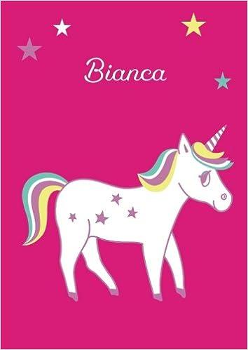 blanko Bianca Tagebuch DIN A4 Einhorn Malbuch Notizbuch