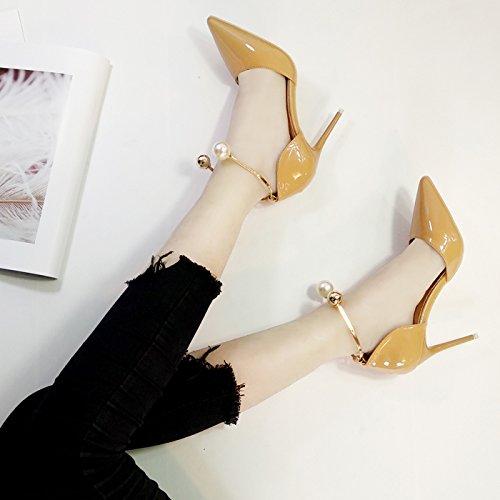 Silver Rojo De Zapatos Verano Boda Primavera De Talón Boda High Zapatos GAOLIM De 10Cm9 Rojo Zapatos Heels Tacón Y Albaricoque De Pearl Finos qT8gxOXw