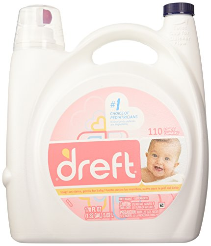 Dreft Laundry Detergent - 170 oz -110 load size-NEW BIGGER S