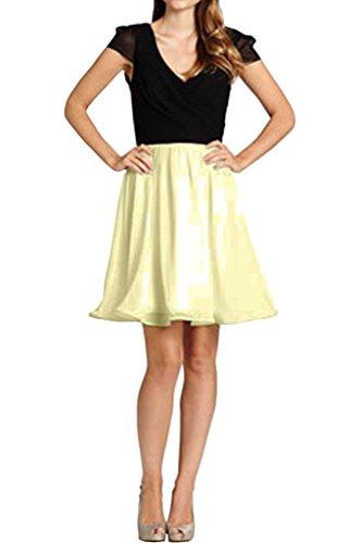 Kleid Prom Cab Urlaub Schulter Kleid Hellgelb Partykleid Avril Glamorpous Doppel ausschnitt V xz8Eqv4wE