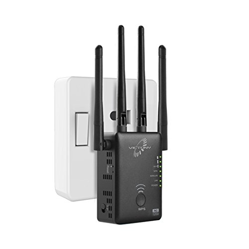 VICTONY WiFi Range Extender 1200Mbps Dual Band WiFi Repeater with 4 Antennas WiFi Extender Wall Mount Router/AP/Repeater