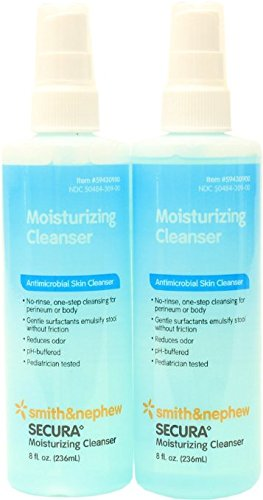 Personal Cleanser 8 Oz Spray (Smith and Nephew SECURA Moisturizing Antimicrobial Skin Cleanser 8oz Spray Bottle (Pack of)
