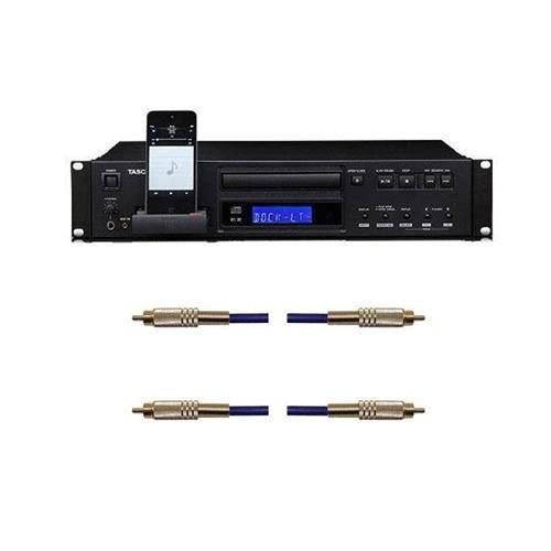 - Tascam CD-200i Rackmountable CD Player with iPod Dock for iPod Music Player, 1/4in Stereo Headphone Output, Wireless 55-Key Remote Control - With 2 Pack 6.6ft S/PDIF Relief RCA Male to RCA Male Cable