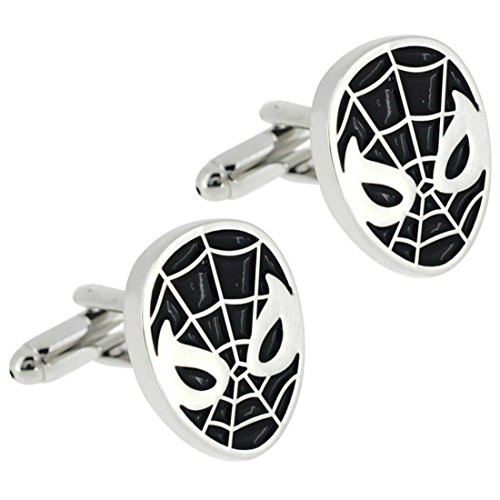 Superheroes Marvel Comics Spiderman Mask Cufflinks