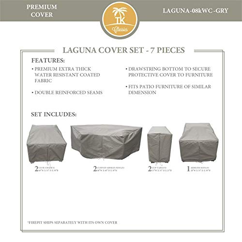 TK Classics LAGUNA-08k Protective Cover Set in Gray