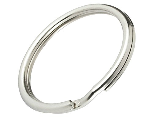 ey Rings - Heat Treated & Lead Free - Heavy Duty & Durable Premium Split Ring Keychains by Specialist ID ()