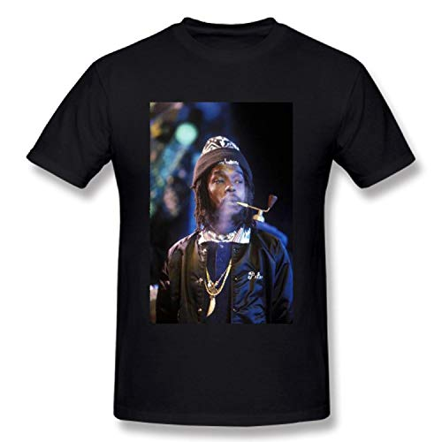 HFYTX Peter T-Shirts Tosh Cotton Men's T-Shirts Short Sleeve Tees & Tops Clothing Black (Peter Tosh T Shirt)