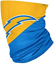 NFL Los Angeles Chargers Unisex Face Mask Gaiter Big Logo, Team Colors, One Size