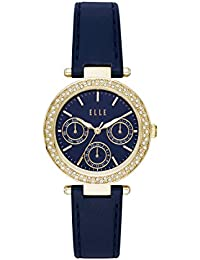 Marais Multifunction Blue Leather Watch