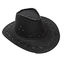 LaRgo NEW Striped Cowboy Hats Suede Vintage Men Western With Wide Brim Cowgirl Cap
