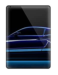 Anti-scratch And Shatterproof Black Car Phone Case For Ipad Air/ High Quality Tpu Case