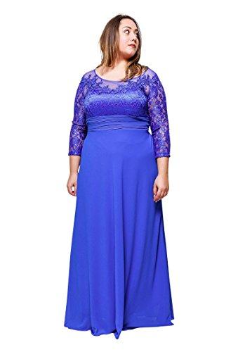 Grande De Taille Longue Roy Robe Femme magique Mariage Soirée Ronde Boutique Bleu IRnXfE