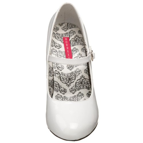 Pump Pleaser Patent Bordello Mary 35 Women's by Tempt Jane White 5Pxwq0a