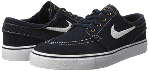Nike Zoom Stefan Janoski Zapatillas de skateboarding, Hombre Negro / Blanco / Marrón (Drk Obsdn / Wht-Wht-Gm Lght Brwn)