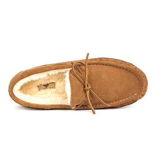 DREAM PAIRS Men's Au-Loafer-02 Tan Faux Fur Slippers Loafers Shoes Size 10 M US by DREAM PAIRS (Image #3)