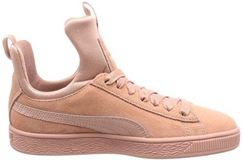 Puma Suede Fierce Trainers Pink Peach Beige omhlQ6f