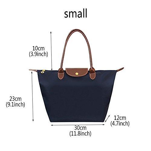 Handbag Blue Fold Navy Stylish Hobos Zipper Shoulder Women's khaki Bag Mynos Tote Big Waterproof Beach Brand g1q66vX