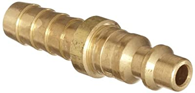 """Dixon DCP2144B Brass Air Chief Industrial Interchange Quick-Connect Air Hose Fitting, Plug, 1/4"""" Coupling x 3/8"""" Hose ID Barbed"""