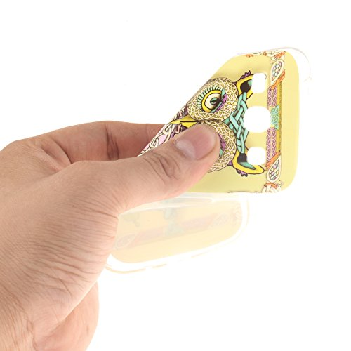 Samsung Galaxy G350 Funda,Ligero a Prueba de Choques Flexible Ultra Fino Suave TPU Parachoque Carcasa MAGQI Tecnología IMD Diseño Impreso Vendimia Serie Patrón [Absorción de Impacto] Resistente a los  Búho de Armadura