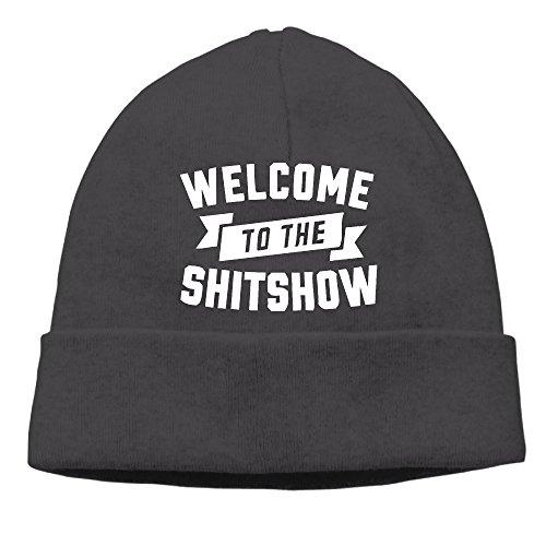 Bienvenido a la shitshow Coleccionable Hipster camiseta de impresión Beanie gorro de esquí Beanie Hat Negro