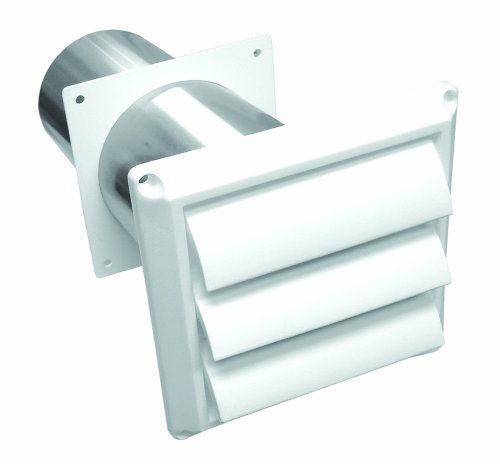 Lambro 267W Innocent Plastic Louvered Vent with Tail Pipe, 4-Inch
