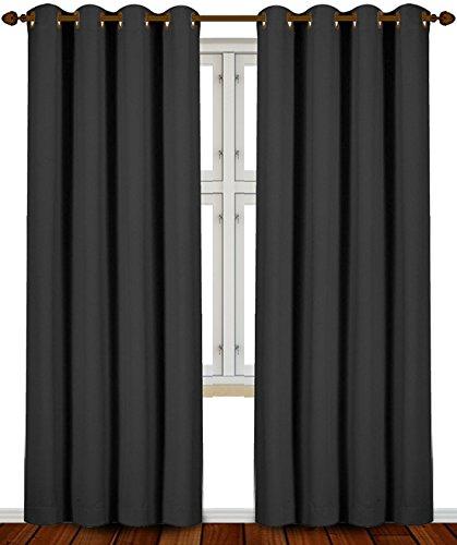 Blackout Room Darkening Curtains Window Panel...