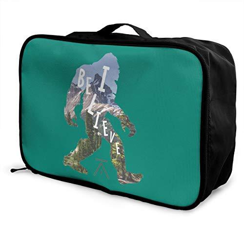 I Believe El Nasty Lightweight Large Capacity Portable Luggage Bag Fashion Travel Duffel Bag