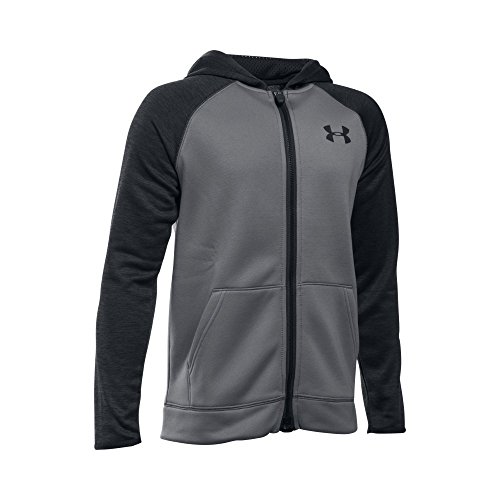 Under Armour Boys' Storm Armour Fleece Full Zip Hoodie, Graphite/Black, Youth Large