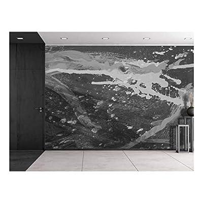 Grand Creative Design, Splatter Paint in Grayscale Wall Mural, Original Creation