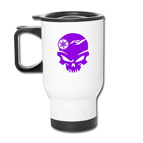 KAIFENG Custom Creative Yamaha R1 Skull Logo Stainless Steel Auto Cup For Hot/Cold Drink Coffee Or Tea For Women's White
