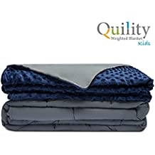 "Quility Premium Kids Weighted Blanket & Removable Cover | 10 lbs | 41""x56"" 