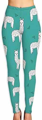 a592faa04f382b Xayeu Alpacas Llamas Baby Nursery Cute Design Yoga Pants for Women Sport  Tights Workout Running Leggings