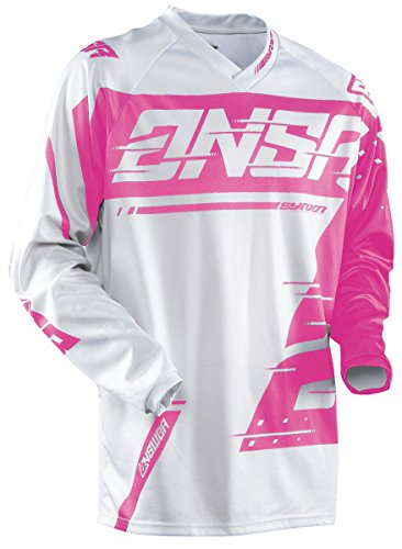 Answer Racing A18 Syncron Youth Boys Off-Road Motorcycle Jerseys - Grey/Pink / Medium