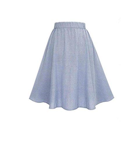 Taille Fille Jupe Boutonnage AIMEE7 A dessus Chic Jupe Fashion Haute Simple genou Femmes Line du Rayure Au Elgant vase Court q7r7wx5YX