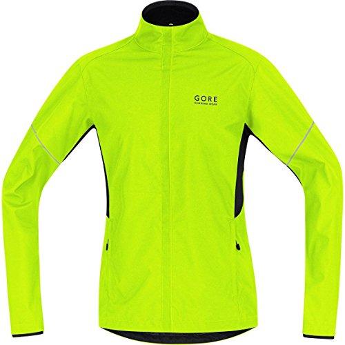 GORE RUNNING WEAR Herren Warme Laufjacke, Leicht, GORE WINDSTOPPER, ESSENTIAL WS AS Partial Jacket, Größe M, Neongelb/ Schwarz, JWESNO