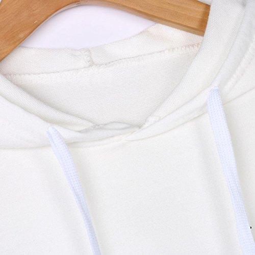 Casual Bianco Sweatshirt Feixiang Ragazza Casuale Manica Cappuccio Cappotto Pianeta Stampato Stampa Moda Lunga Elegante Con Felpa Camicetta Donna Top Felpe Maglione Hoodie AFwqS74x