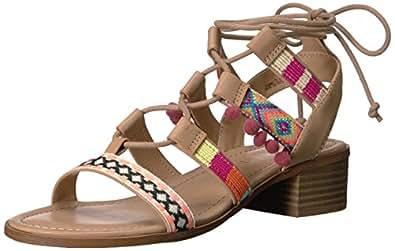 Madden Girl Women's Taammy Gladiator Sandal, Cognac Multi, 6 M US