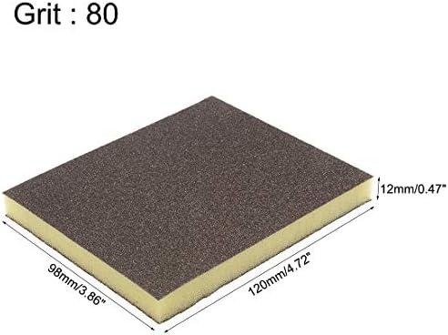 80-Grits Coarse Grit Sand Block Pad uxcell Sanding Sponge Sanding Blocks 4.7 x 3.9 x 0.5 Size 4pcs
