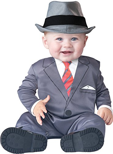 UHC Boy's Business Gangster Infant Toddler Fancy Dress Child Halloween Costume, (Infant Gangster Costume)